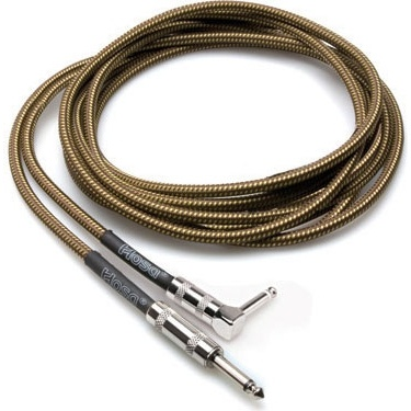 Hosa GTR-518R Tweed Guitar Cable 18ft (angled)