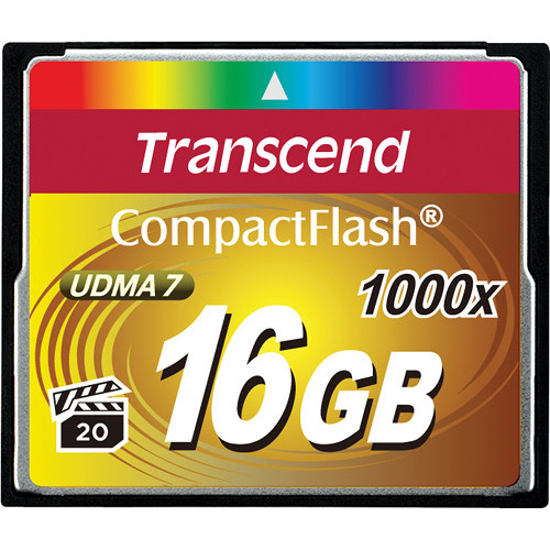 Transcend 16GB CompactFlash Memory Card Ultimate 1000x UDMA