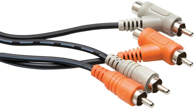 Hosa CRA-202PB RCA Piggyback Cable 2m