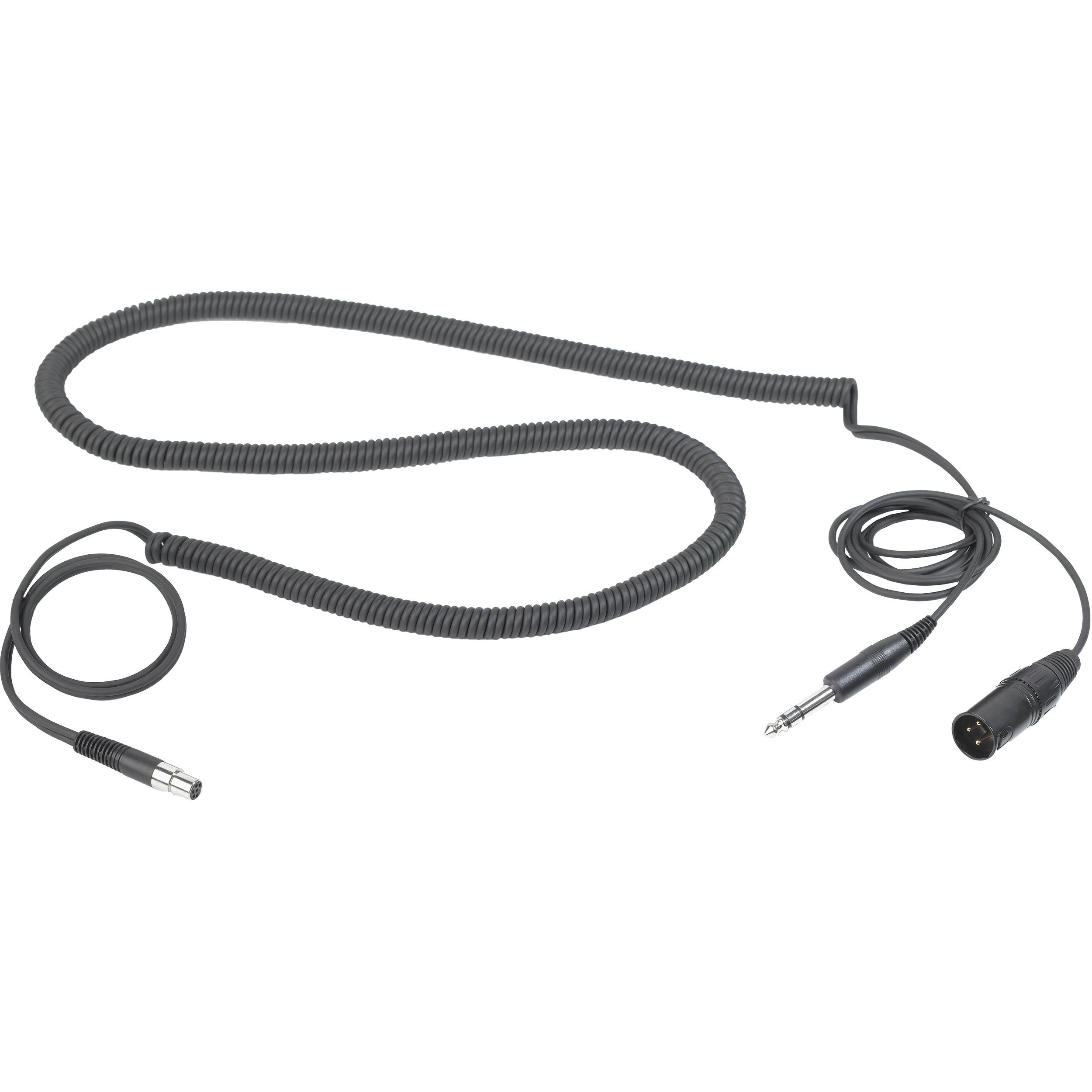 """AKG MK HS STUDIO D Headset Cable for Studio and Moderators with 3-Pin XLR & 1/4"""" Stereo Connectors"""