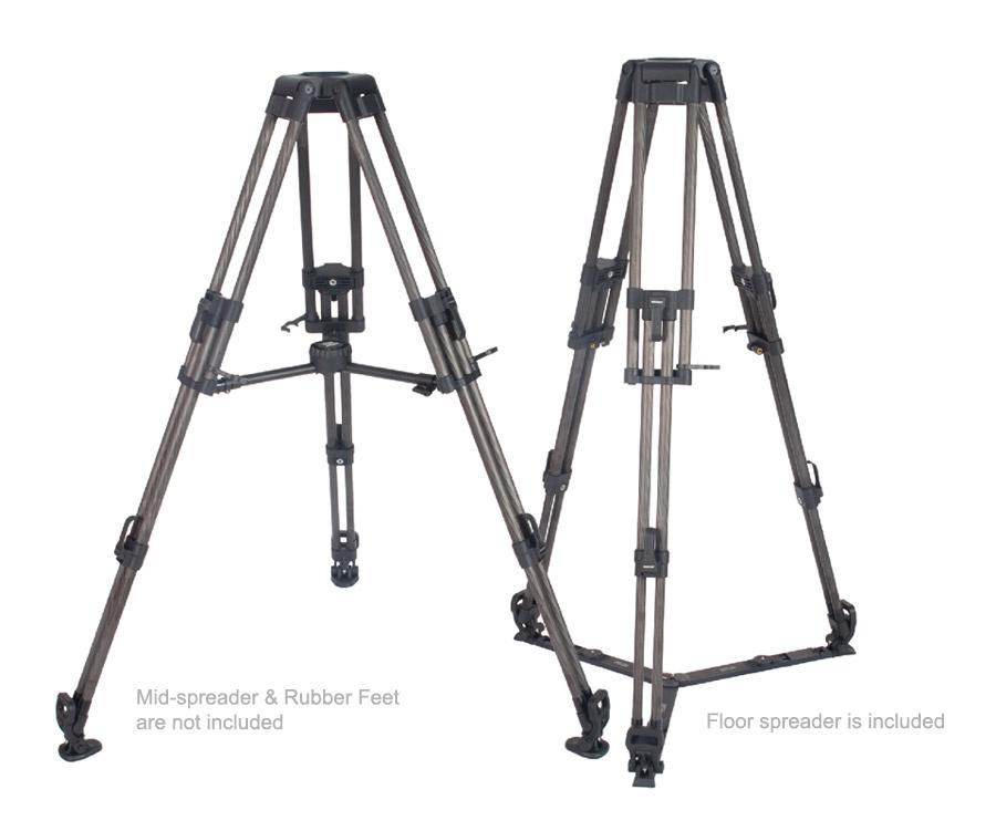 Secced SC-EFP/CF100D Carbon Fibre Tripod Legs