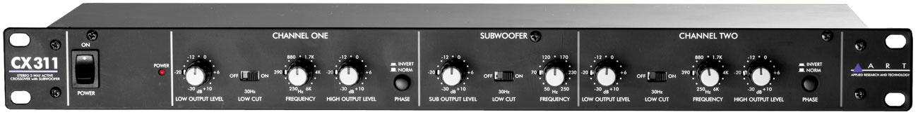 Art CX311 2-Way Crossover with Subwoofer Out