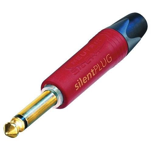 "Neutrik NP2X-SILENT-POS SilentPLUG 2-Pole 1/4"" Professional Phone Plug"