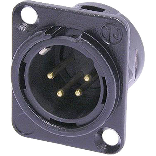 Neutrik NC4MD-L-B-1 Male Receptacle Connector (4-Pole)