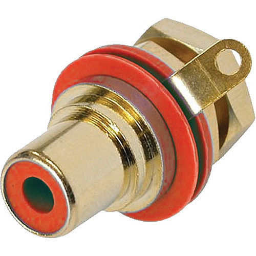 Neutrik RCA Jack Chassis Mount Socket (Gold/Red)