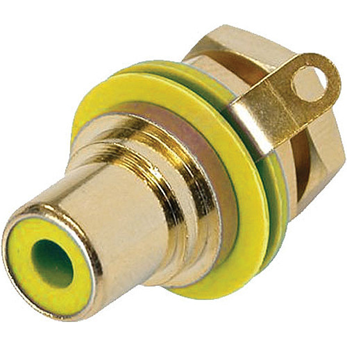 Neutrik RCA Jack Chassis Mount Socket (Gold/Yellow)