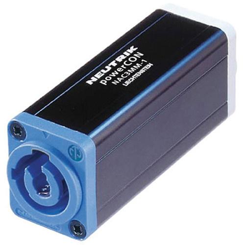 Neutrik NAC3MM-1 3-Pole PowerCON to 3-Pole PowerCON Lockable Coupler