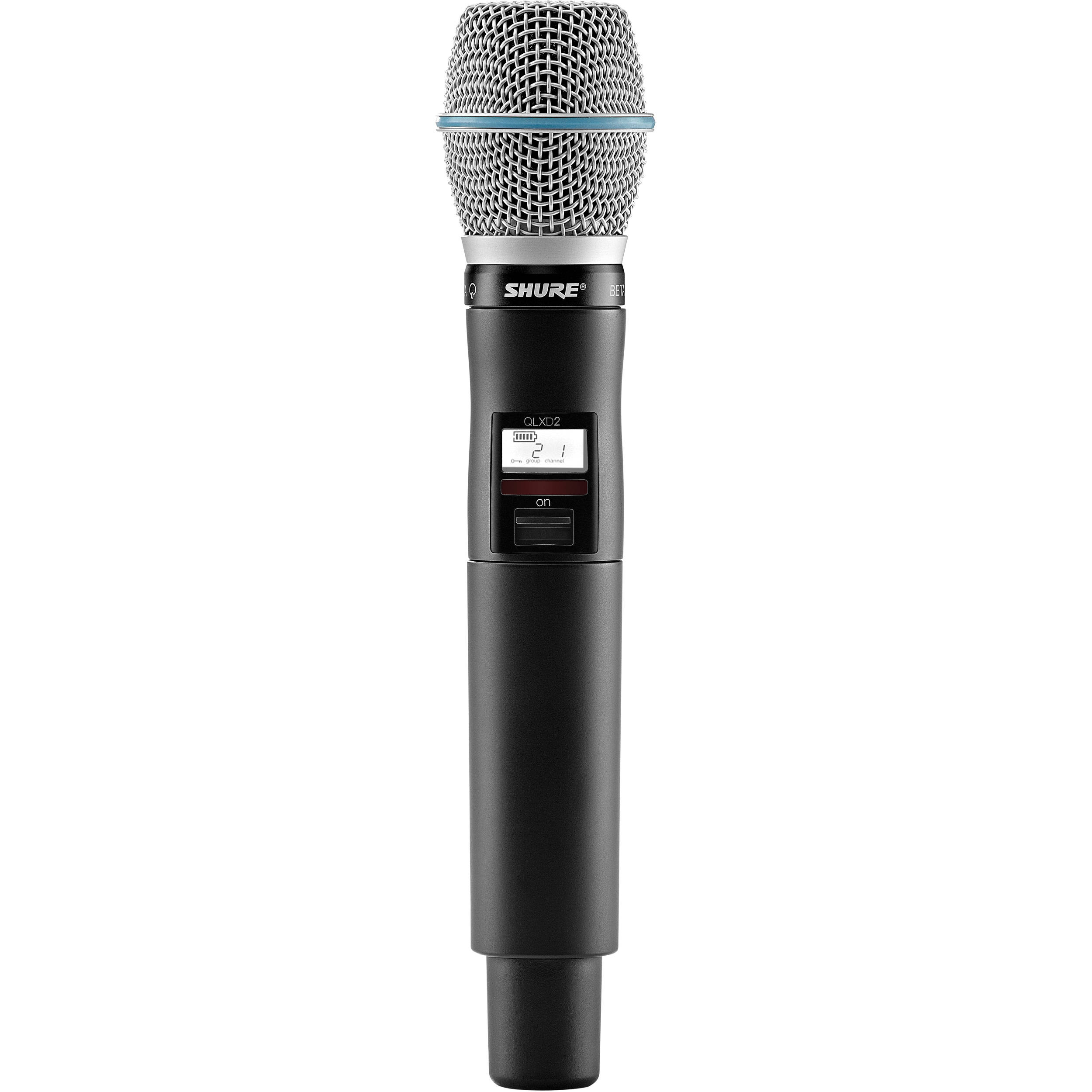 Shure QLXD2-BETA87A Handheld Wireless Transmitter with Beta 57A Capsule (H51:534 to 598 MHz)