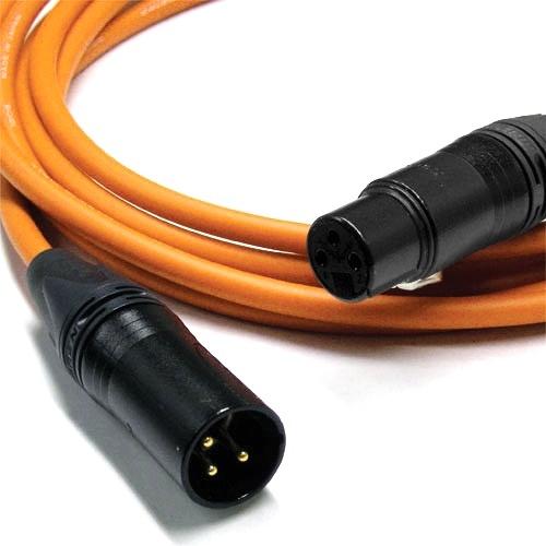 Canare L-4E6S Star Quad XLRM to XLRF Microphone Cable - 6' (Orange)