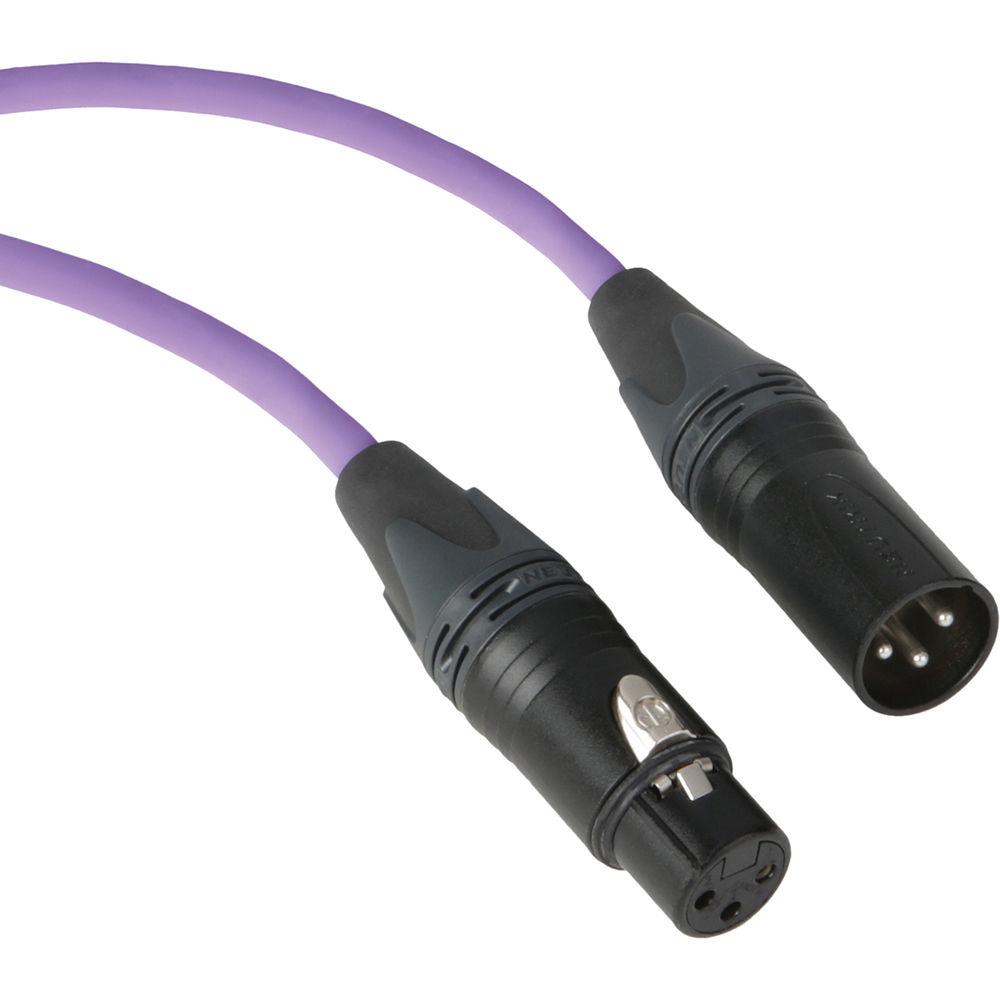 Kopul Premium Performance 3000 Series XLR M to XLR F Microphone Cable - 100' (30.5 m), Violet