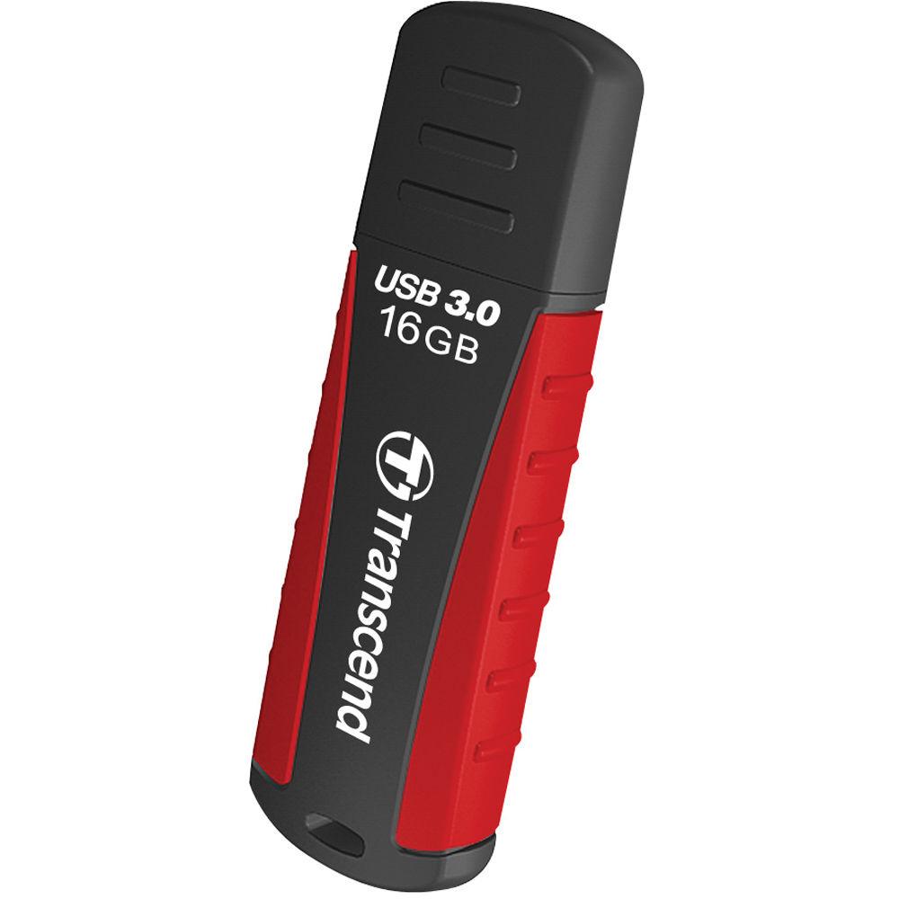 Transcend 16GB JetFlash 810 USB 3.0 Flash Drive (Red/Black)