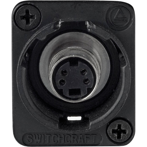 Switchcraft EH Series S-Video Jack Female to Female Connector (Black)