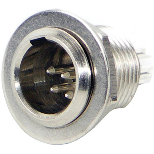Switchcraft Tini-QG Mini XLR 6-Pin Male Circular Panel Mount (Nickel)