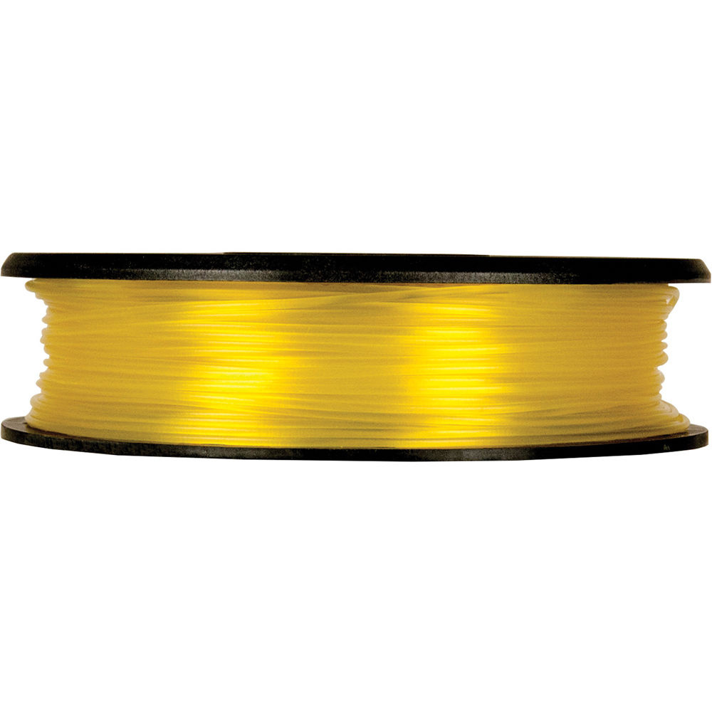 MakerBot 1.75mm PLA Filament (Small Spool, 0.5 lb, Translucent Yellow)
