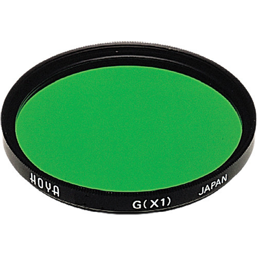 Hoya 46mm Green X1 (HMC) Multi-Coated Glass Filter for Black & White Film