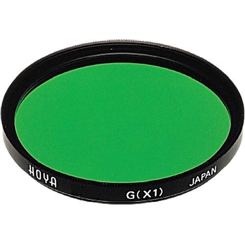 Hoya 55mm Green X1 (HMC) Multi-Coated Glass Filter for Black & White Film