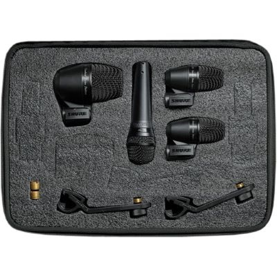 Shure PGADrumKit4 4-Piece Studio Microphone Kit