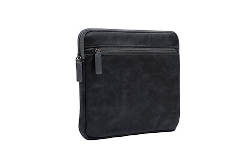 """NVS Premium Leather Sleeve for MacBook Air 11"""" (Black)"""