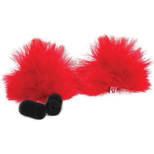 Rycote Red Lavalier Windjammer (Pair)