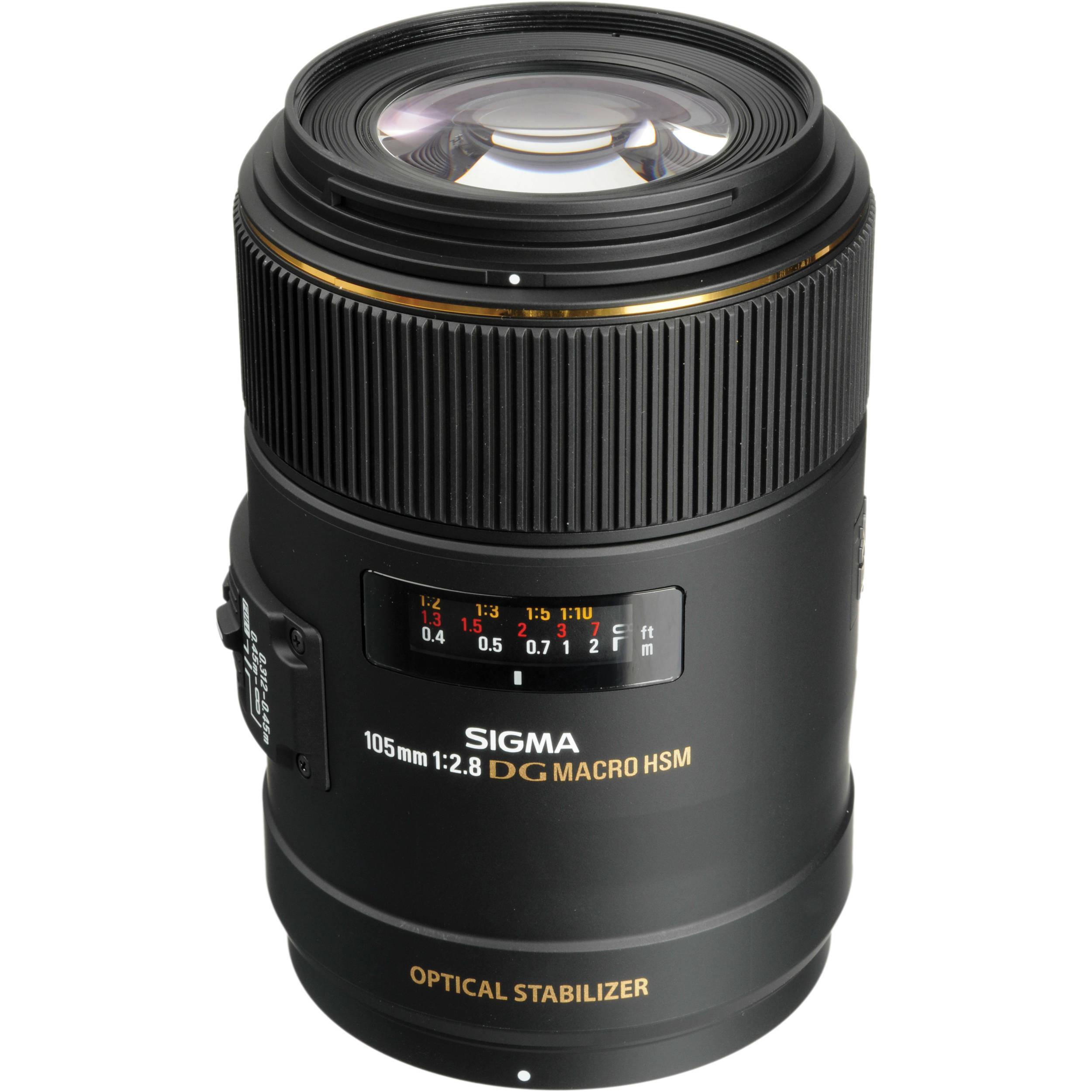 Sigma 105mm f/2.8 EX DG OS Macro Lens for Sony Cameras