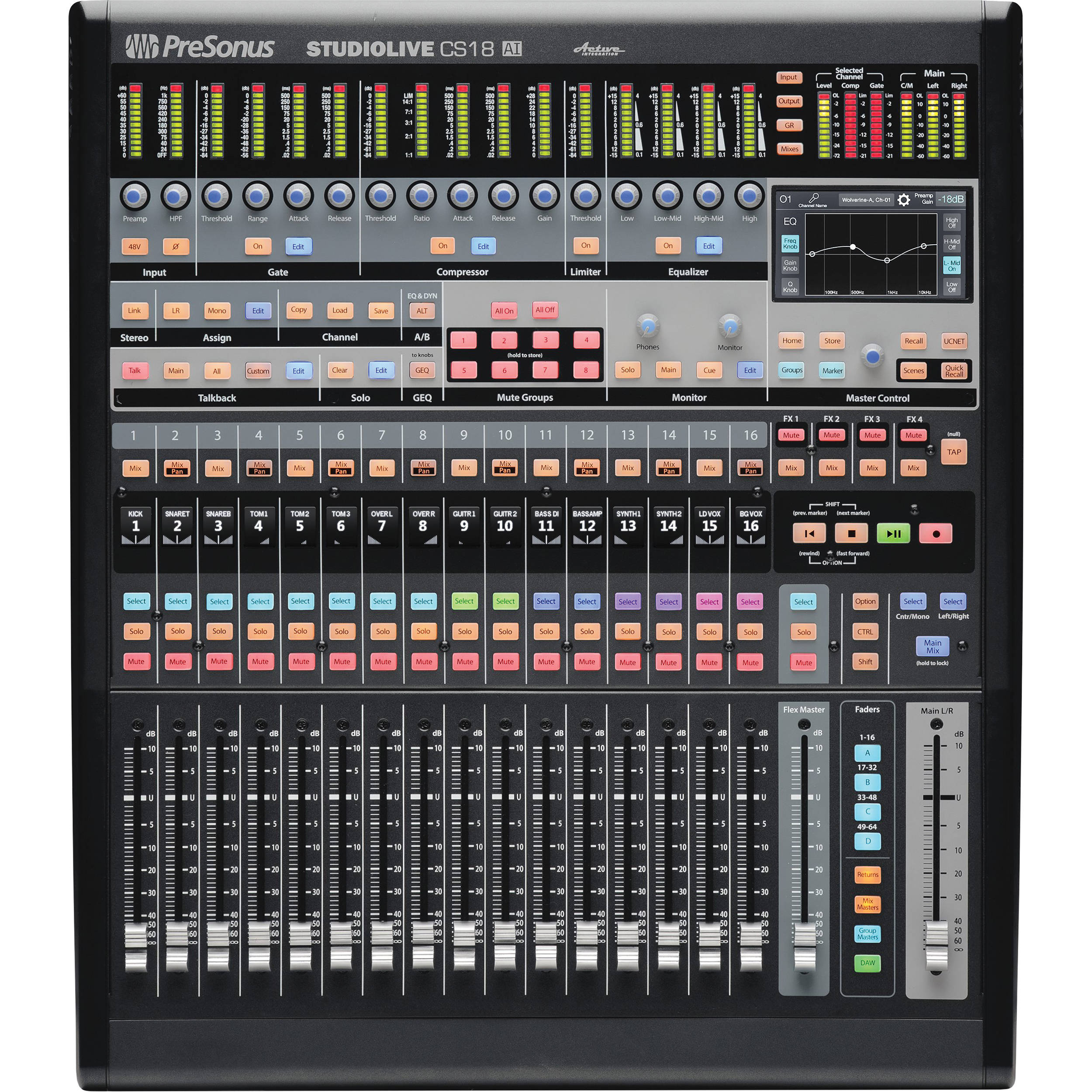 PreSonus CS18AI Ethernet/AVB Control Surface with 18-Touch Faders