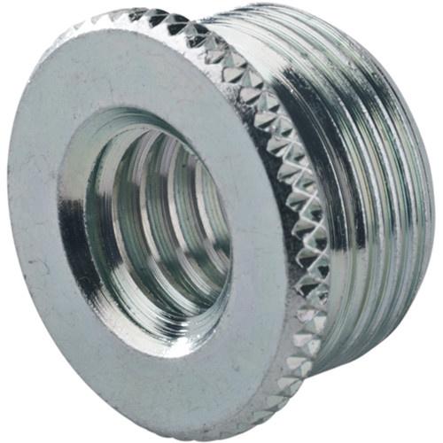 "K&M 217 Thread Adapter, 3/8"" Female Thread, 5/8"" 27 Gauge Male Thread (Zinc-Plated)"