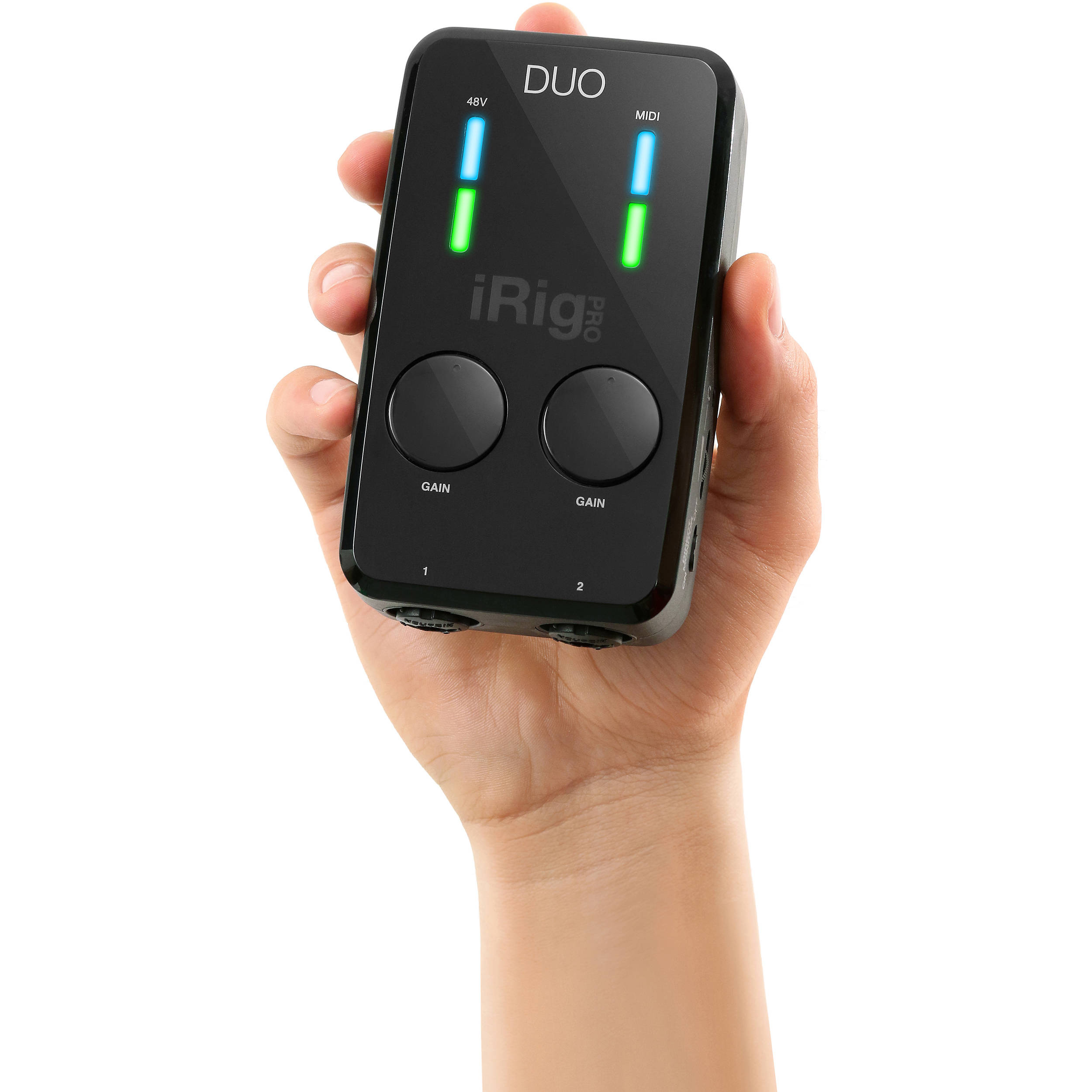 IK Multimedia iRig Pro DUO 2-Channel Audio and MIDI Interface for iOS, Android and Mac/PC