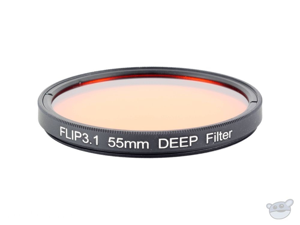Flip Filters 55mm Threaded Underwater Colour Correction Red Filter for GoPro (DEEP)