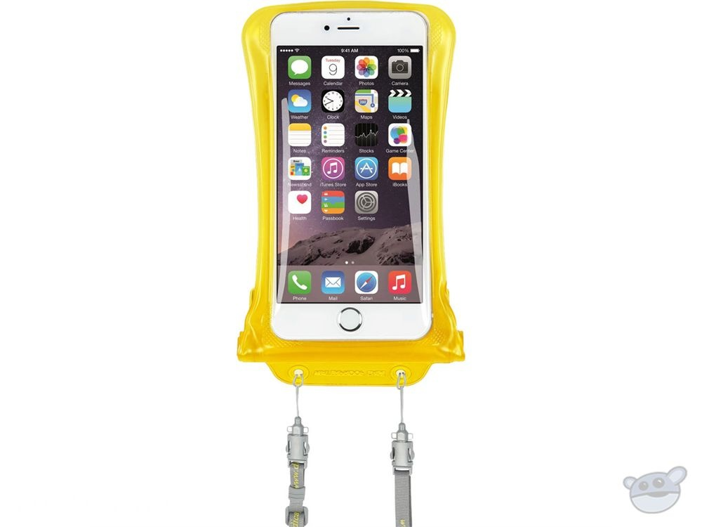"""DiCAPac Waterproof Case for Smartphones up to 5.7"""" (Yellow)"""