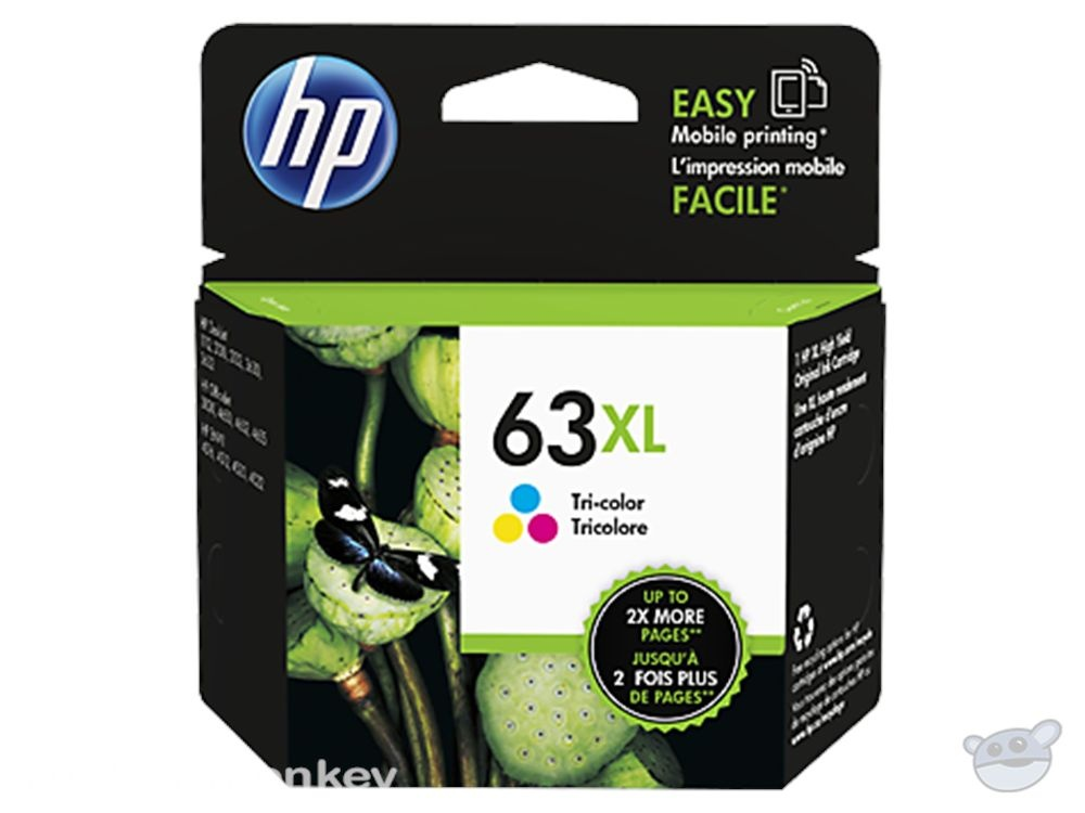 HP 63XL High Yield Tri-color Original Ink Cartridge (F6U63AA)