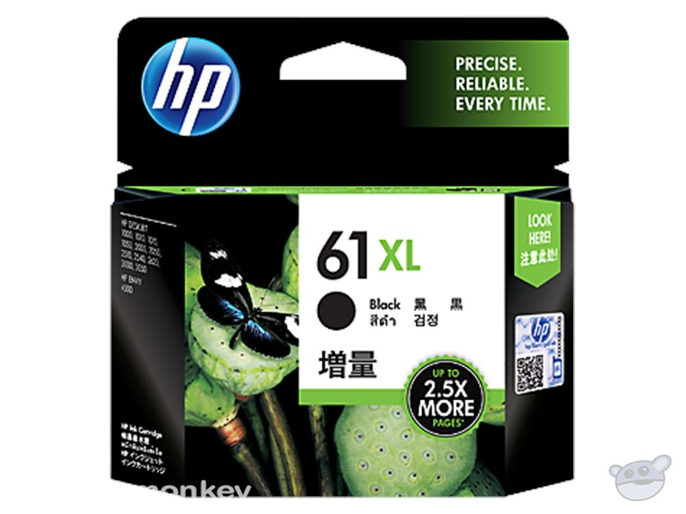 HP 61XL High Yield Black Original Ink Cartridge (CH563WA)