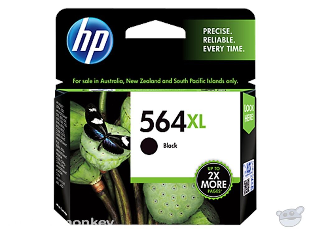HP 564XL High Yield Black Original Ink Cartridge (CN684WA)
