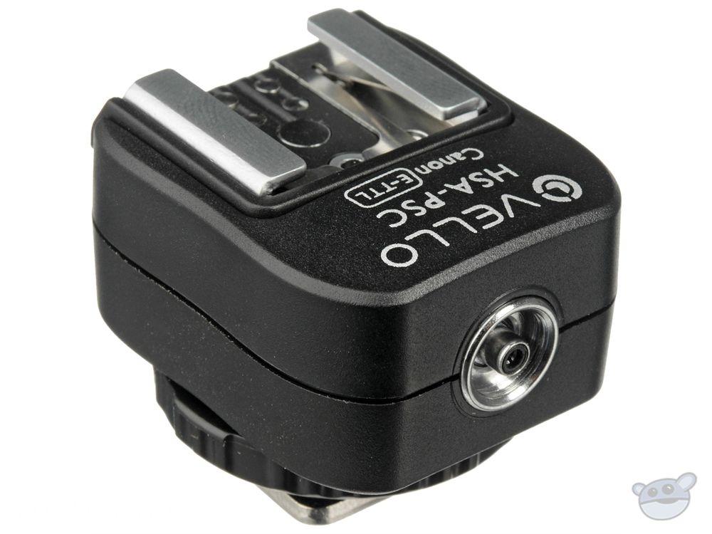 Vello Hot Shoe Adapter with PC Socket + Top Shoe - for Canon (E-TTL & E-TTL II)