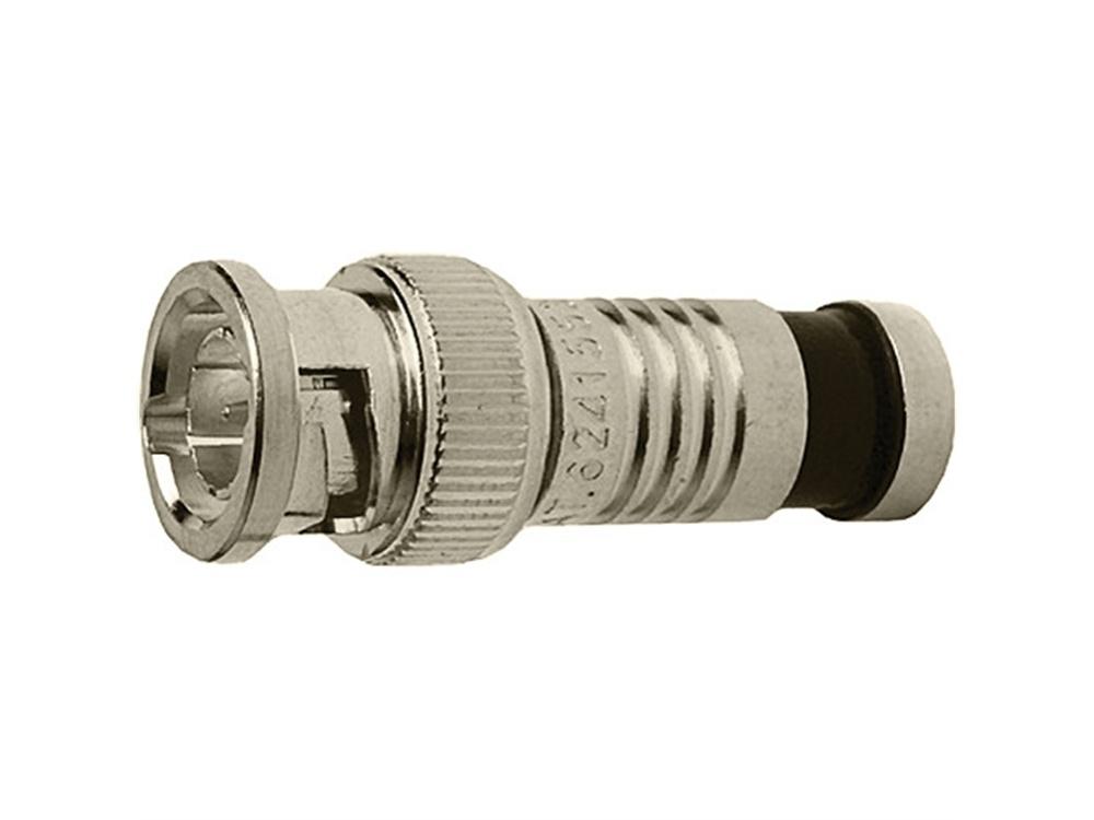 Platinum Tools BNC-Type Nickel SealSmart Coaxial Compression RG6 Connector (6 Pieces Clamshell)