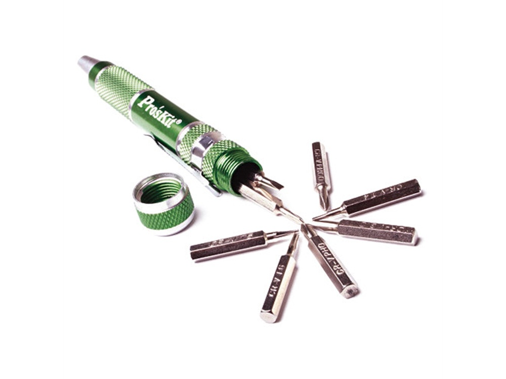 Eclipse Tools 9 in 1 Aluminum Handle Precision Screwdriver Set (Green)
