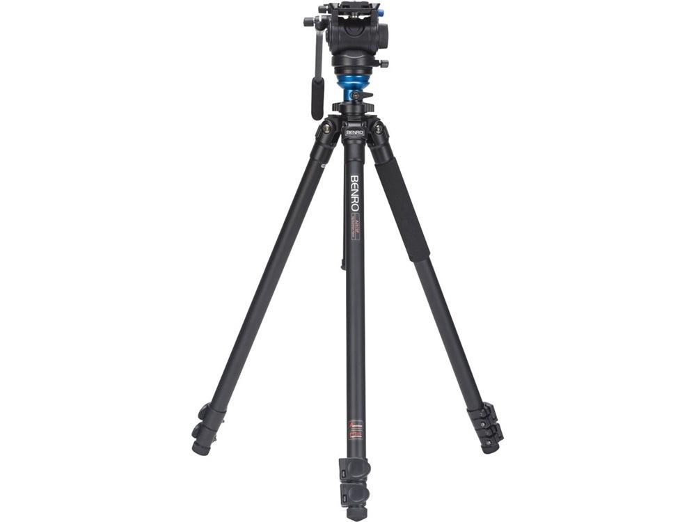 Benro A2573FS4 S4 Video Head and AL Flip Lock Legs Kit