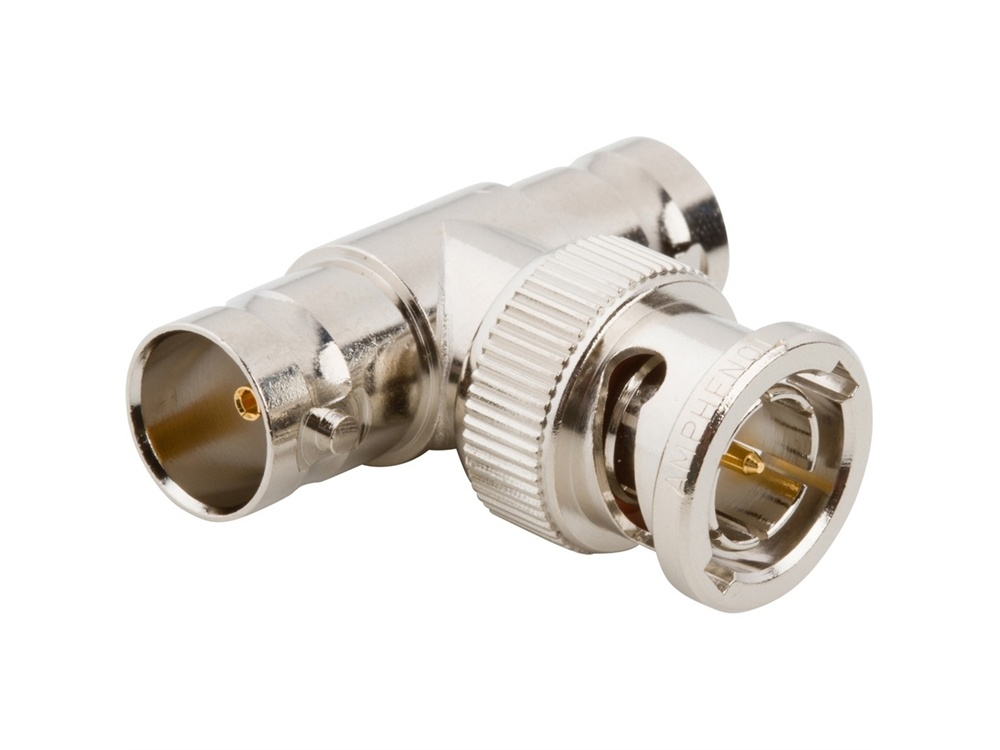 Comprehensive BT 75 Ohm BNC Male to Two BNC Female T-Adapter