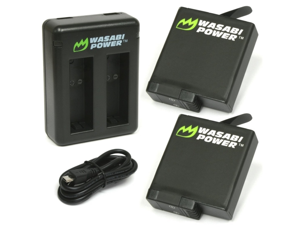 Wasabi Power Battery (2-Pack) and Dual Charger for GoPro HERO 5, HERO5 Black & HERO6