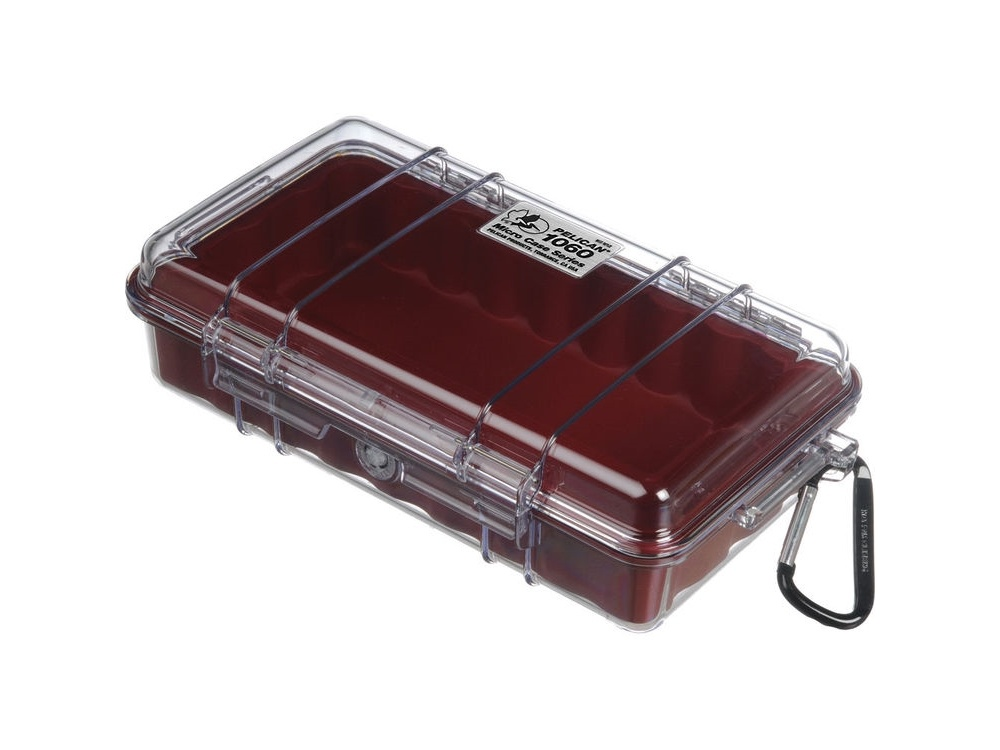 Pelican 1060 Micro Case (Red/Clear)