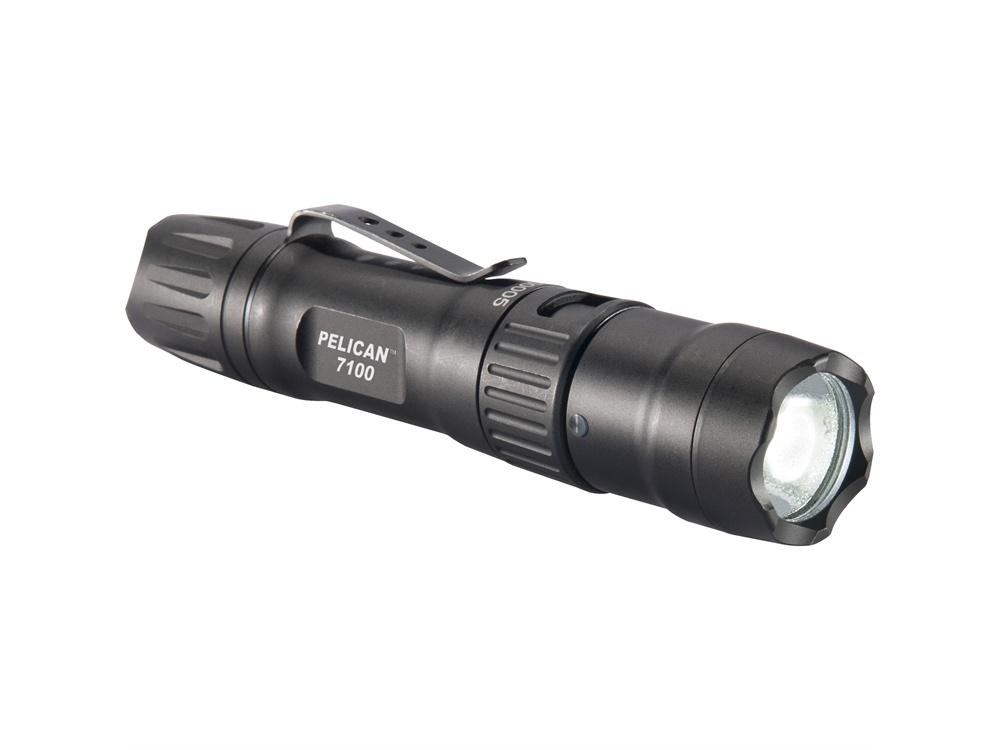 Pelican 7100 Rechargeable Tactical Flashlight (Black)