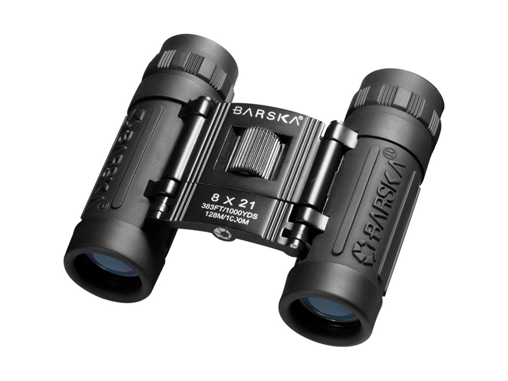 Barska 8x21 Lucid View Binocular (Black, Clamshell Packaging)
