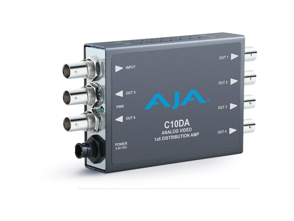 AJA C10DA Analog BNC 1x6 Distribution Amplifier with NTSC & PAL Support