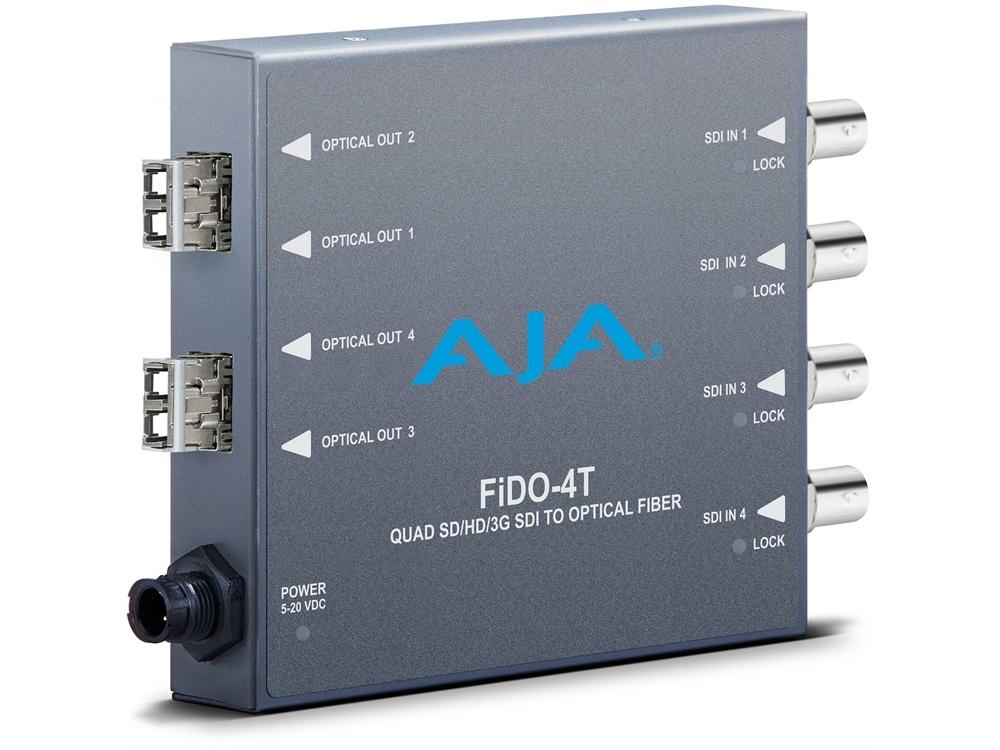 AJA FiDO-4T-X Quad Channel SDI to LC Fiber Converter for CWDM Module
