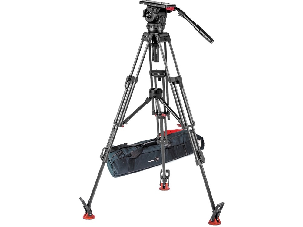 Sachtler Video 18 S2 Fluid Head & ENG 2 CF Tripod System with Mid-Level Spreader