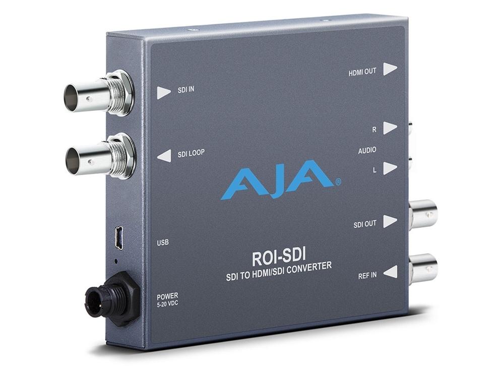 AJA ROI-SDI 3G-SDI to HDMI/3G-SDI Scan Converter with ROI Scaling