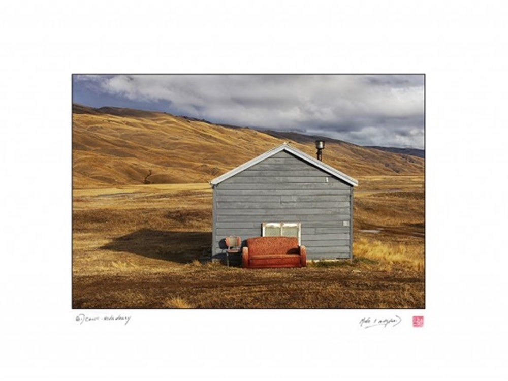 Print Red Couch Nevis Valley by Michael Langford