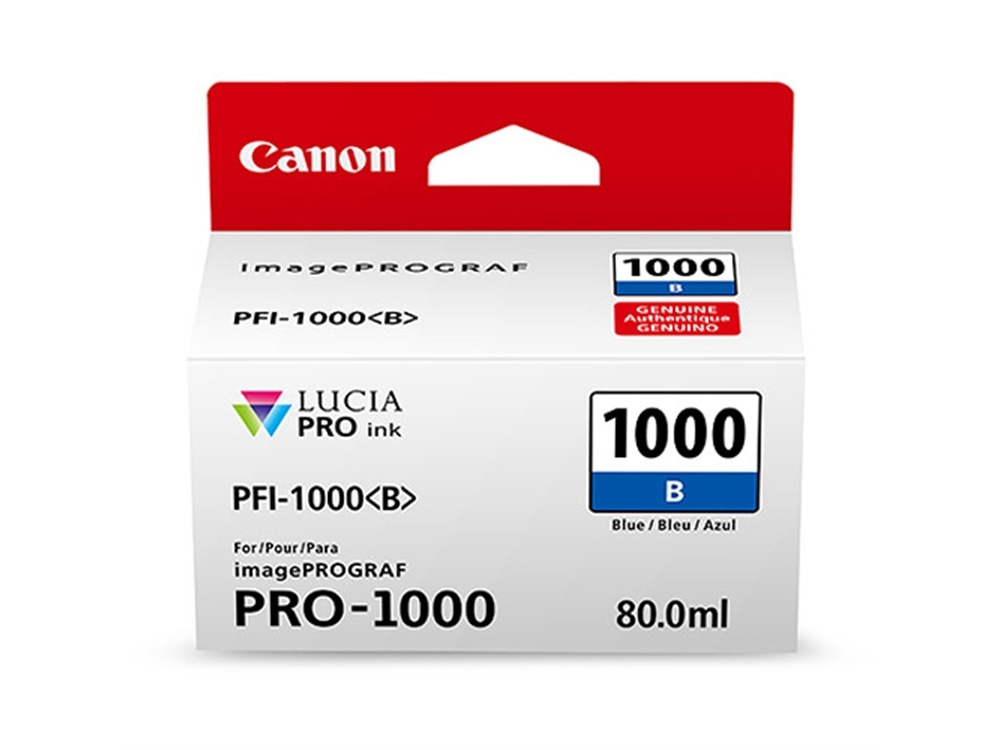 Canon PFI-1000 B LUCIA PRO Blue Ink Cartridge (80ml)