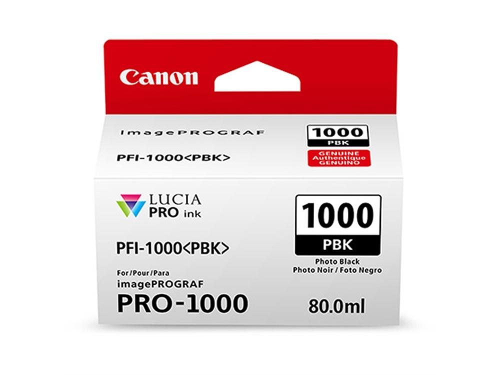 Canon PFI-1000 PBK LUCIA PRO Photo Black Ink Cartridge (80ml)