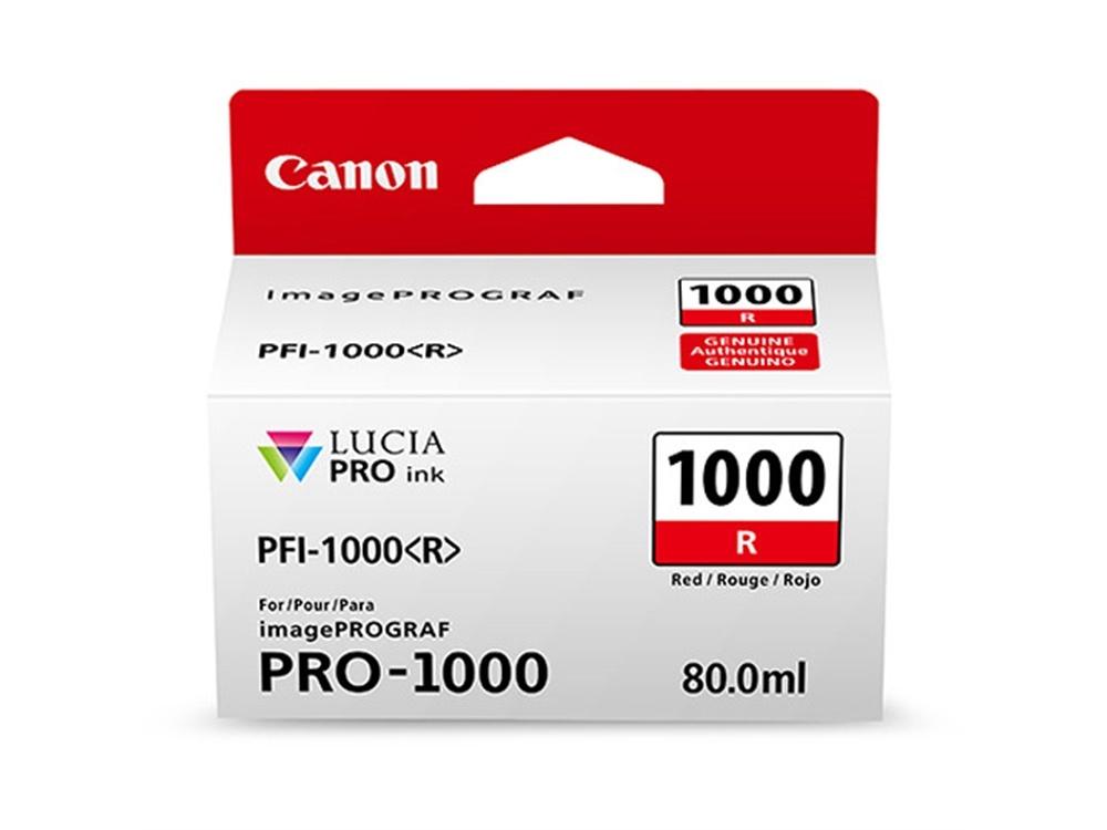 Canon PFI-1000 R LUCIA PRO Red Ink Cartridge (80ml)
