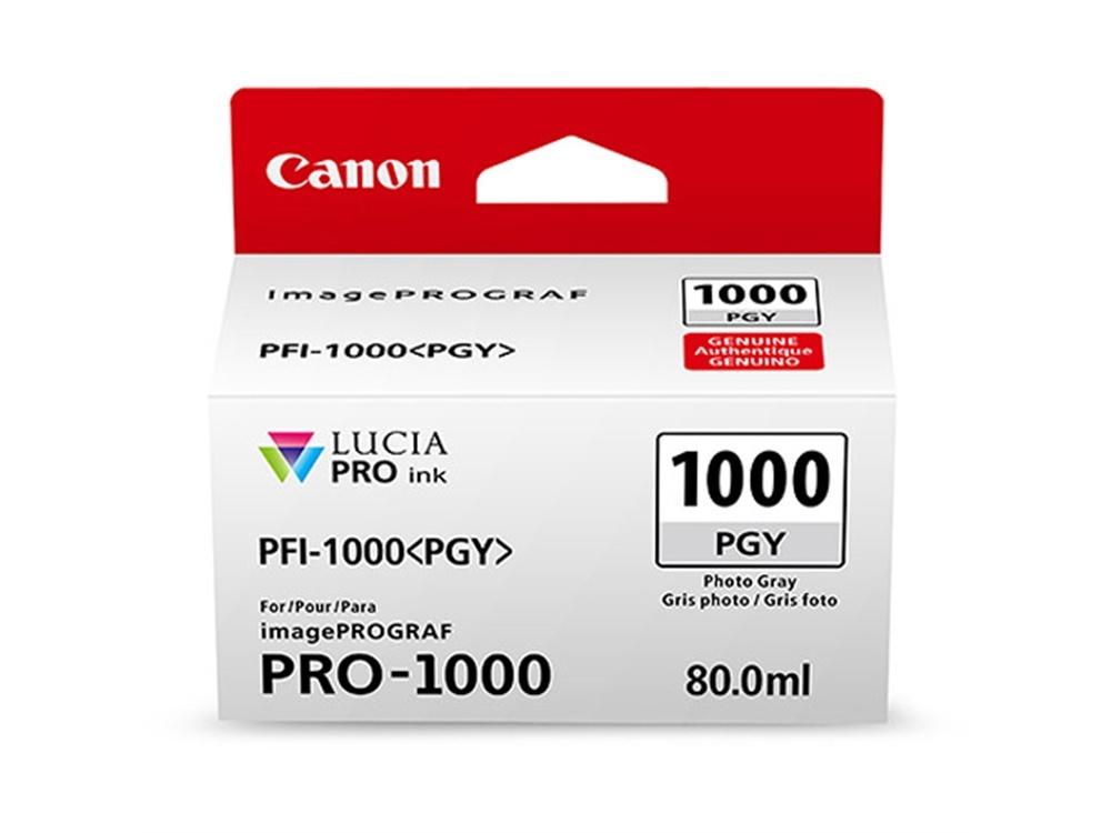 Canon PFI-1000 PGY LUCIA PRO Photo Gray Ink Cartridge (80ml)